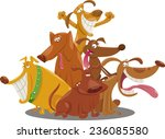 cartoon illustration of happy... | Shutterstock . vector #236085580