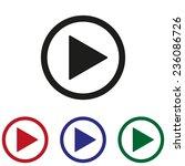 play button web icon | Shutterstock .eps vector #236086726