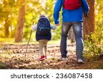 Father And Son Walking During...