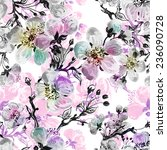 seamless pattern of beautiful... | Shutterstock . vector #236090728