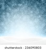winter background with snow.... | Shutterstock .eps vector #236090803