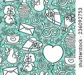 love pattern. vector seamless... | Shutterstock .eps vector #236092753