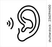 ear icon | Shutterstock . vector #236094400