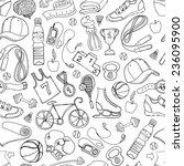 vector illustration black and... | Shutterstock .eps vector #236095900