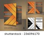 vertical business cards in... | Shutterstock .eps vector #236096170