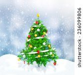 3d christmas tree with... | Shutterstock . vector #236099806