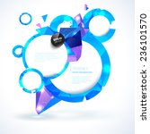 composition of blue shiny round ... | Shutterstock .eps vector #236101570