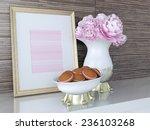 kitchen decor. gold frame ... | Shutterstock . vector #236103268