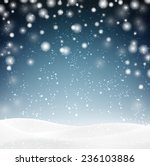 winter background with snow.... | Shutterstock .eps vector #236103886