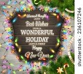 christmas greeting calligraphy  ... | Shutterstock .eps vector #236107246