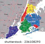new york city map | Shutterstock .eps vector #236108293