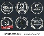 anniversary laurel wreath...   Shutterstock .eps vector #236109670