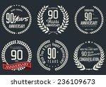 anniversary laurel wreath...   Shutterstock .eps vector #236109673