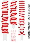 vector set of classic ribbons... | Shutterstock .eps vector #236111050