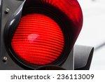 A Traffic Light Shows Red Light....
