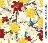 texture flowers floral retro  | Shutterstock . vector #236115883