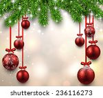 christmas illustration with fir ... | Shutterstock .eps vector #236116273
