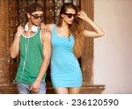 close up portrait of happy...   Shutterstock . vector #236120590
