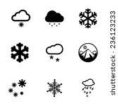 vector snow icon set on white... | Shutterstock .eps vector #236123233