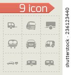 vector trailer icon set on grey ... | Shutterstock .eps vector #236123440