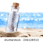 Bottle With A Message For Help...