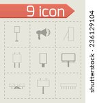 vector advertisement icon set... | Shutterstock .eps vector #236129104
