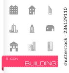 vector building icons set on... | Shutterstock .eps vector #236129110