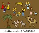 characters of bethlehem... | Shutterstock .eps vector #236131840