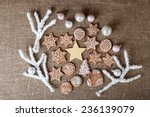 christmas colorful gingerbread... | Shutterstock . vector #236139079