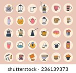 the set of vector icons with... | Shutterstock .eps vector #236139373