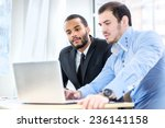 work for the laptop. two... | Shutterstock . vector #236141158