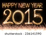 Happy New Year 2015 Word Made...