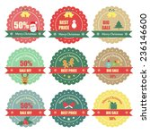 set of christmas sale labels | Shutterstock .eps vector #236146600