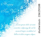 new year background with... | Shutterstock .eps vector #236150188