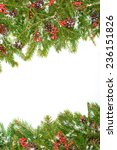 christmas background with snow  ... | Shutterstock . vector #236151826