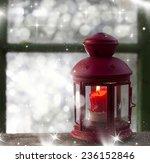 christmas lantern | Shutterstock . vector #236152846