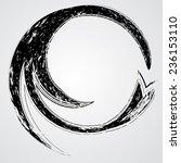 beautiful unusual elegant swirl.... | Shutterstock .eps vector #236153110