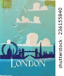 London  England Vintage Travel...
