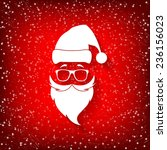abstract santa claus in glasses ...   Shutterstock .eps vector #236156023