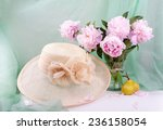 still life with beautiful pink... | Shutterstock . vector #236158054