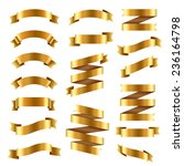 golden ribbon big set  vector... | Shutterstock .eps vector #236164798