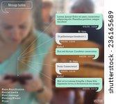 dialogue bubbles for messenger. ... | Shutterstock .eps vector #236165689