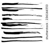 set of black ink brushes.... | Shutterstock .eps vector #236166553