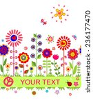 greeting seamless border with... | Shutterstock .eps vector #236177470