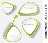 green modern paper banners set  ... | Shutterstock .eps vector #236178178