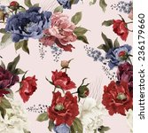 seamless floral pattern with... | Shutterstock .eps vector #236179660