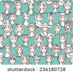 vector seamless pattern with... | Shutterstock .eps vector #236180728