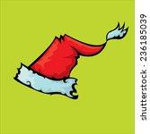 cartoon santa red hat isolated...   Shutterstock .eps vector #236185039