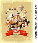 show. circus in town. vector...   Shutterstock .eps vector #236185129