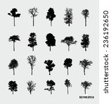 set of tree silhouettes. vector ... | Shutterstock .eps vector #236192650